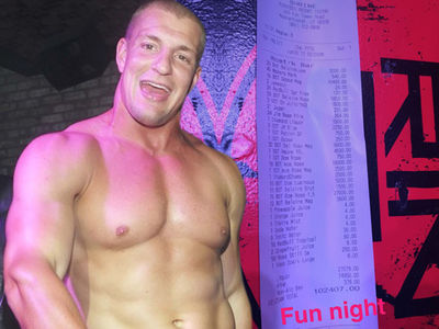 Rob Gronkowski Racks Up $100k Tab During Shirtless Turn-Up