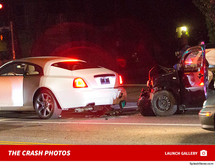 blac chyna rear-ended in car crash and checked out in ambulance