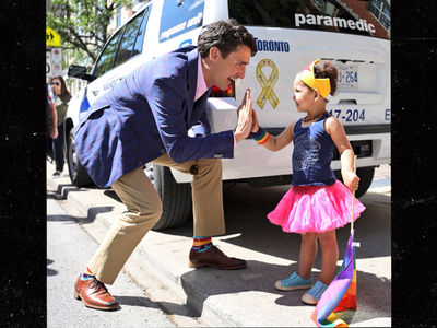 Canadian Prime Minister Justin Trudeau Joins Toronto's Pride Parade