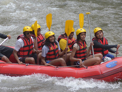 Barack Obama Takes the Fam White Water Rafting in Bali