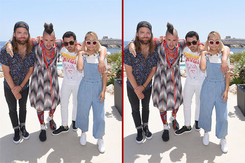 Can you spot the THREE differences in the DNCE photos?