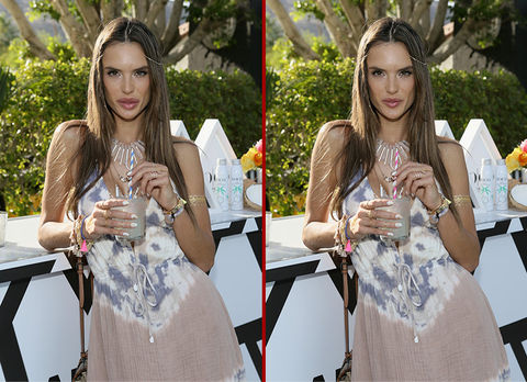 Can you spot the THREE differences in the Alessandra Ambrosio photos?