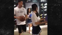 Klay Thompson Pelvic Thrustin' Dance Video In Chinese Shoe Shop