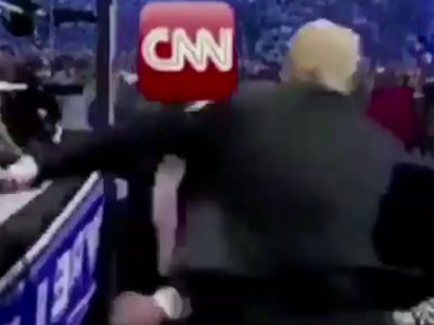 Donald Trump Posts Altered Video of Him Attacking CNN at Wrestlemania (UPDATE)