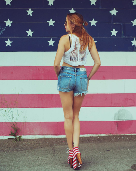 Brandi Cyrus wore some patriotic pride