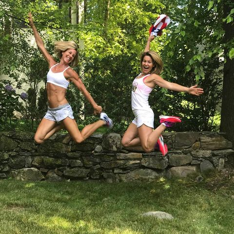 Candace Cameron Bure started her 4th of July with a patriotic work out