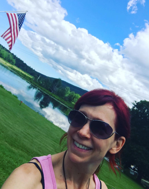 Carrie Preston got out in the sunshine on the 4th