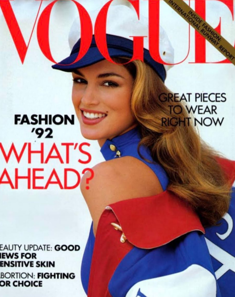 Cindy Crawford did a throwback to her Vogue cover by posting it on Instagram