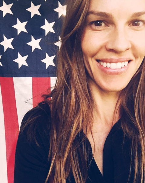 Hilary Swank got patriotic for Independence Day