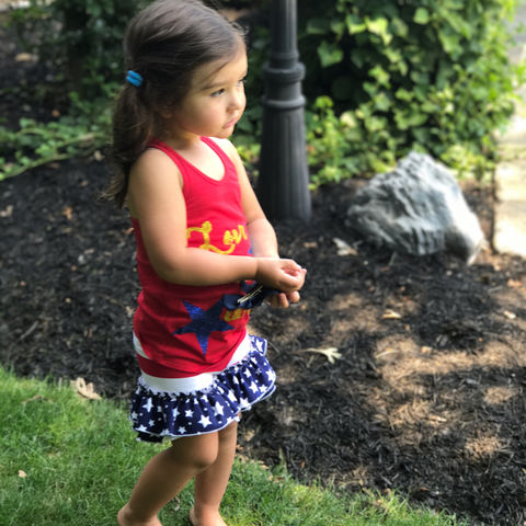 JWOWW posted this cute pic of her daughter decked out in patriotic gear
