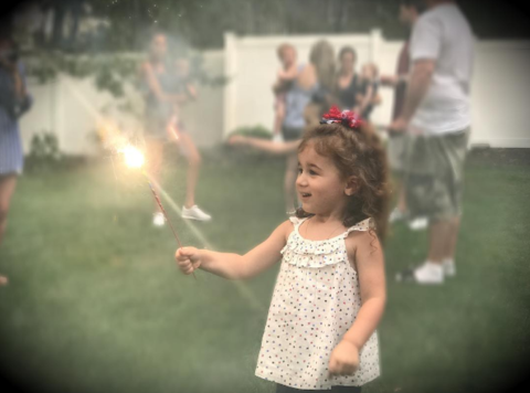 Kevin Jonas showed everyone his cute daughter's Patriotic side