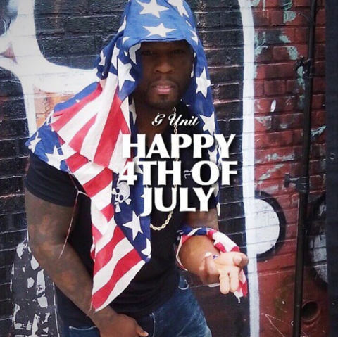 50 Cent was sure to wish everyone a Happy 4th of July on his insta