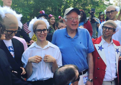 Bernie Sanders met some other Bernie Sanders'