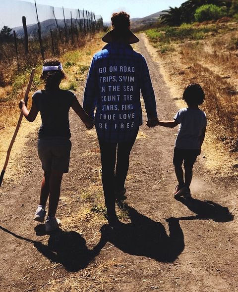 Halle Berry is spending some quality time hiking with her two tots on this 4th of July.