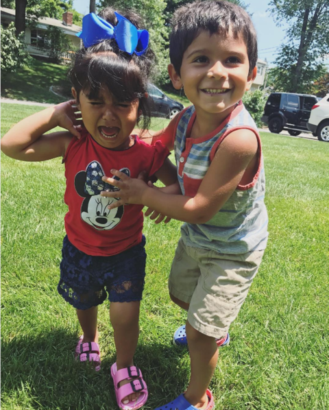 Snooki posted an adorable pic of her kids on the 4th of July