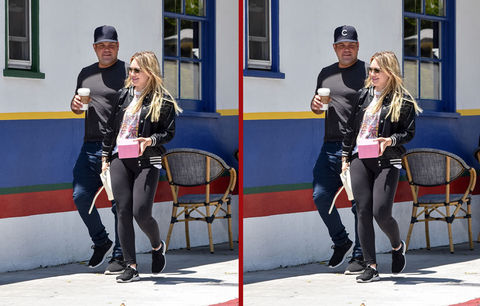 Can you spot the THREE differences in the Mike Comrie and Hilary Duff photos?