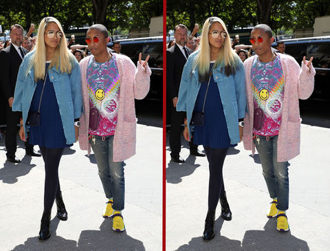 Can you spot the THREE differences in the Pharrell photos?