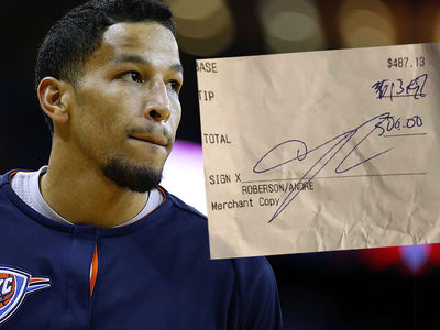 OKC Thunder's Andre Roberson Leaves Bad Tip After Signing $30 Mil Contract