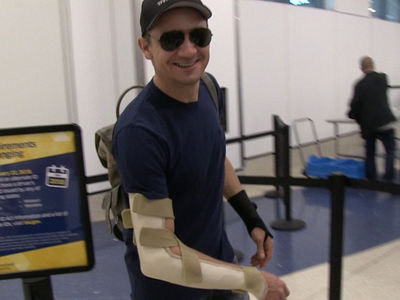 Jeremy Renner Hurt His Arm and Wrist, Probably on the Set of 'Avengers: Infinity War'