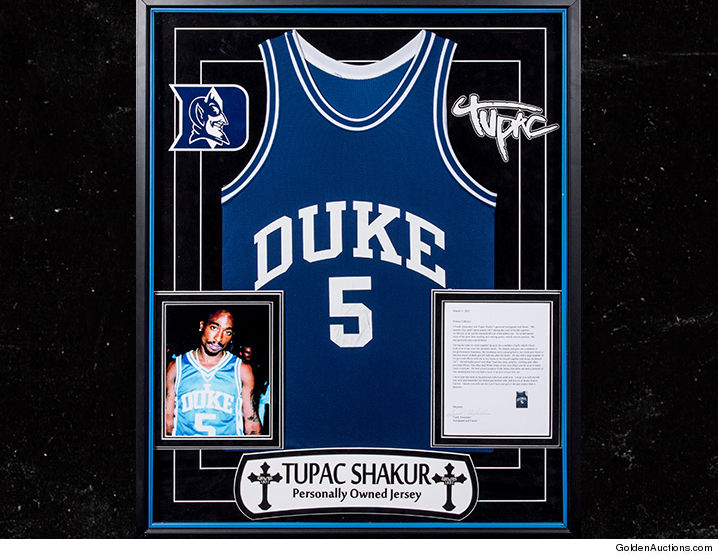 49032864a46 Grab your wallets, Tupac fans ... the legendary rapper's personally-owned  Duke Blue Devils basketball jersey is hitting the auction block!!!