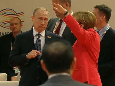 Vladimir Putin & Angela Merkel Talk North Korea Missiles