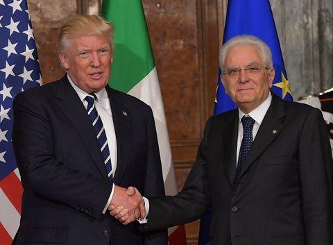 Italy's President Sergio Mattarella