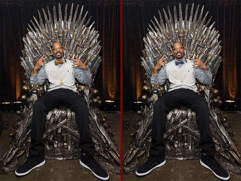 Can you spot the THREE differences in the Snoop Dogg photos?