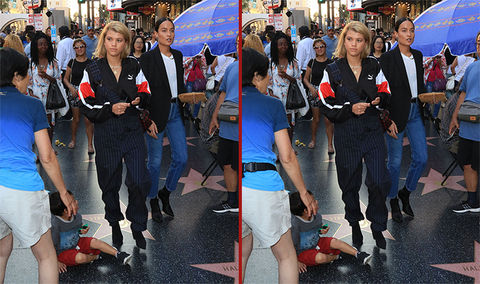 Can you spot the THREE differences in the Sofia Richie photos?