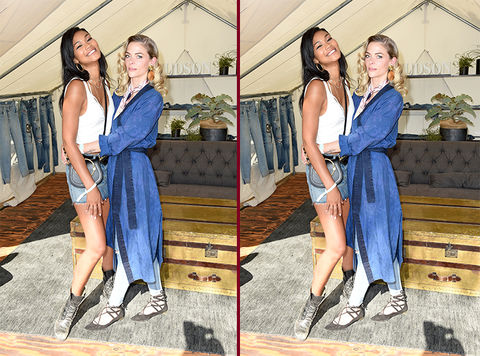 Can you spot the THREE differences in the Chanel Iman and Jaime King photos?