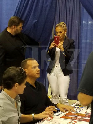 Alex Rodriguez and Jennifer Lopez -- Chicago Signing Day