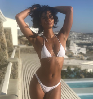 Chanel Iman And Model Friends In Mykonos