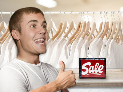 Justin Bieber's Having a Plain White T-Shirt Sale