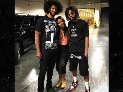 Colin Kaepernick Is Hangin' With J. Cole, Rocks 'I Know My Rights' Shirt