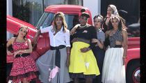 Serena Williams Dolls Up For '50s-Themed Baby Shower with Ciara, La La