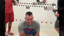 Mike Trout Doused With Blue Icee, Raw Eggs in Birthday Ritual