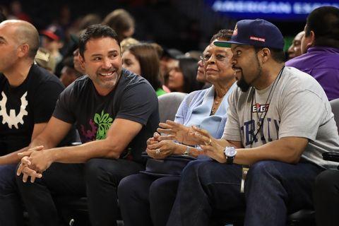 Oscar De La Hoya and Ice Cube