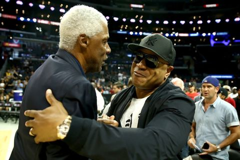 julius Erving and LL Cool J