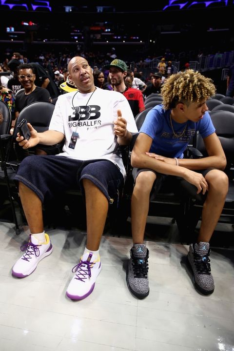 Lavar Ball and LaMelo Ball