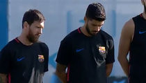 FC Barcelona, Messi Have Moment of Silence for Terror Victims