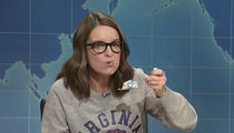 Tina Fey Trashes Trump on 'SNL' with Sheet Cake!!!