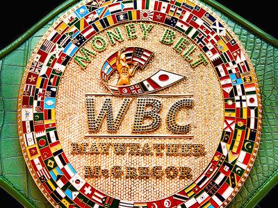 Floyd vs. Conor Money Belt: 3 Pounds of Gold, 3,300 Diamonds!!