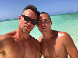 Colton Haynes and Fiancé -- Shirtless in Turks & Caicos