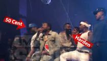 Meek Mill, Chance and 50 Cent  Share Stage at James Harden's B-Day