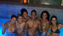 Cuba Gooding Jr. Crashes Spa Party Loaded With Hot Chicks