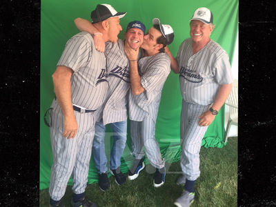Charlie Sheen Reunites with 'Major League' Cast at Real 'Field of Dreams'