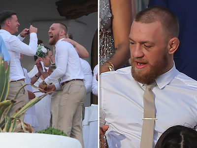 Conor McGregor Bruised But Still Partying for Friend's Wedding in Ibiza