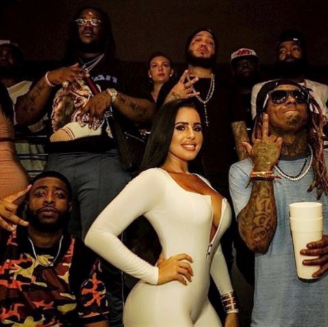 "Lil Wayne with the ""Mula Gang"" July 31st, 2017."