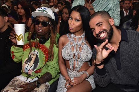 Lil Wayne, Nicki Minaj and Drake attend the 2017 Billboard Music Awards at T-Mobile Arena on May 21, 2017 in Las Vegas, Nevada.