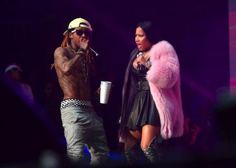 Lil Wayne and Nicki Minaj perform at Birthday Bash ATL The Pop Up Edition Concert at Philips Arena on June 17, 2017 in Atlanta, Georgia.