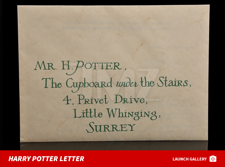 Hogwarts Acceptance Letter | Harry Potter S Hogwarts Acceptance Letter Up For Auction Tmz Com